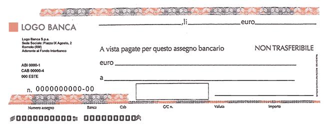 compilare assegno: come si compila un asseno